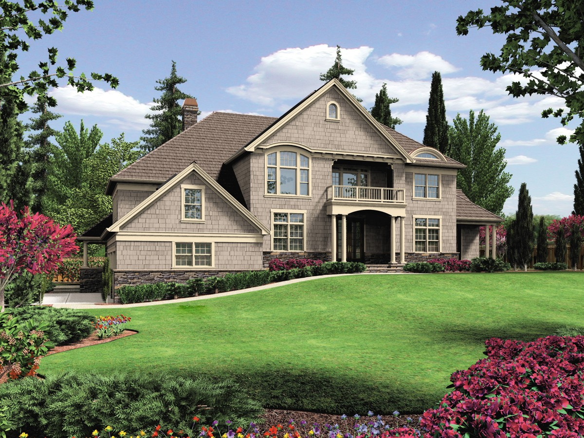 Hillside home design 6980am architectural designs for Hillside home designs