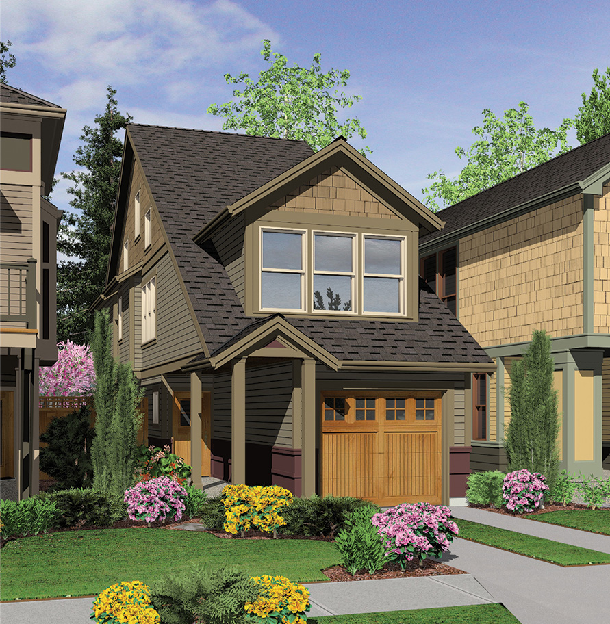 Perfect Home Plan For A Narrow Lot - 6989AM