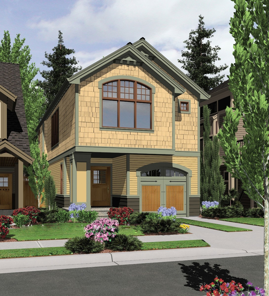 A Charming Home Plan For A Narrow Lot 6992am