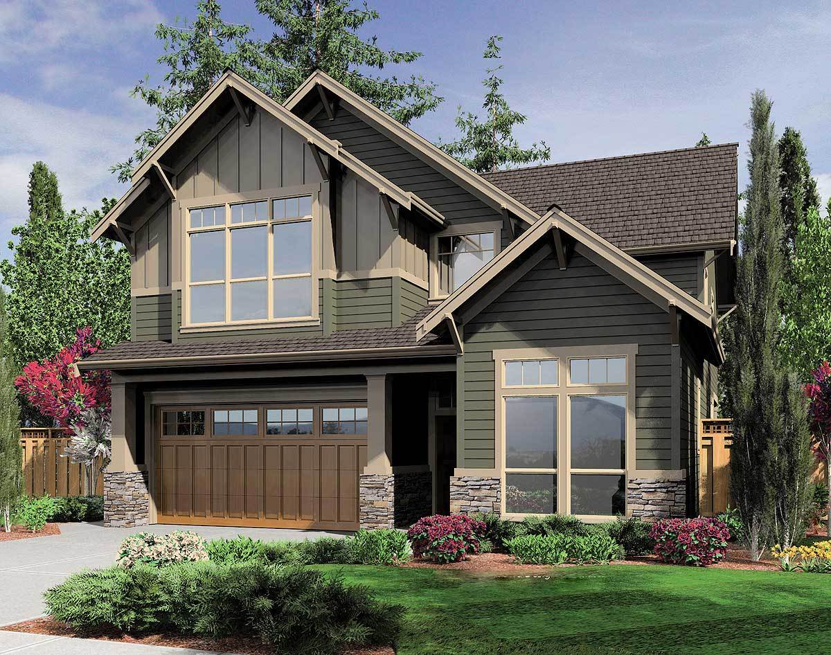 Charming bungalow for a narrow lot 6993am for Charming house plans