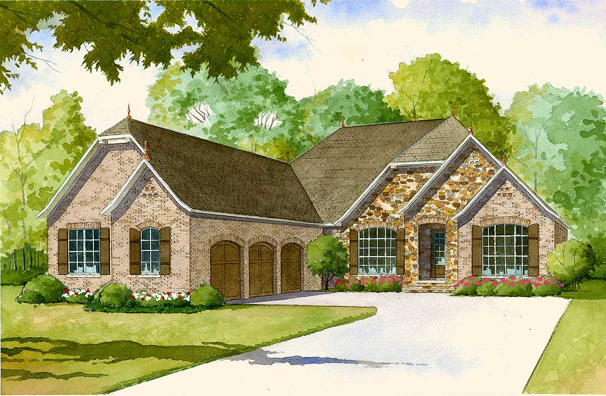 French country house plan with 2 kitchens 70502mk for French country house plans