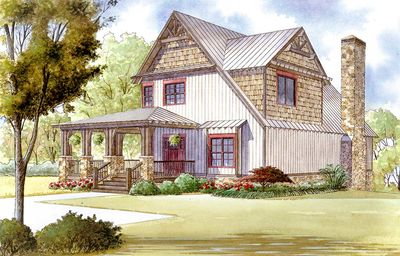 Rustic House Plan with Wraparound Porch - 70509MK | Architectural ...