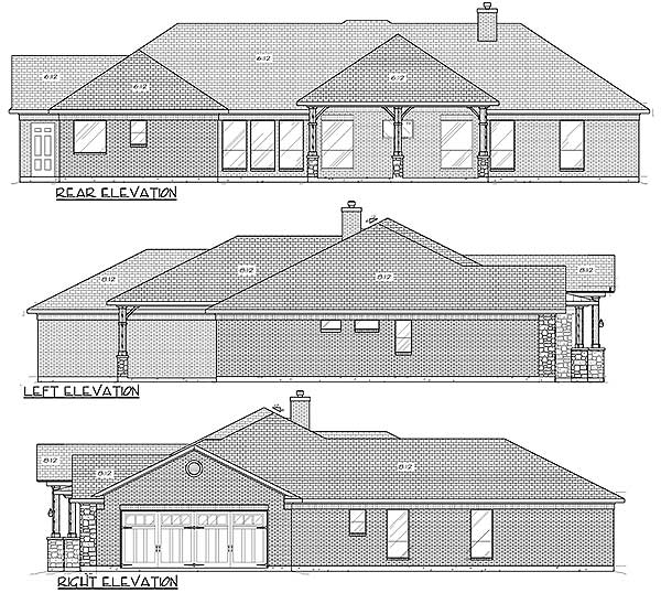 Rustic Hill Country Ranch House Plan 70708jr Hill
