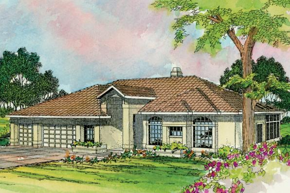 Mid size family southwestern 72013da architectural for Southwestern home plans