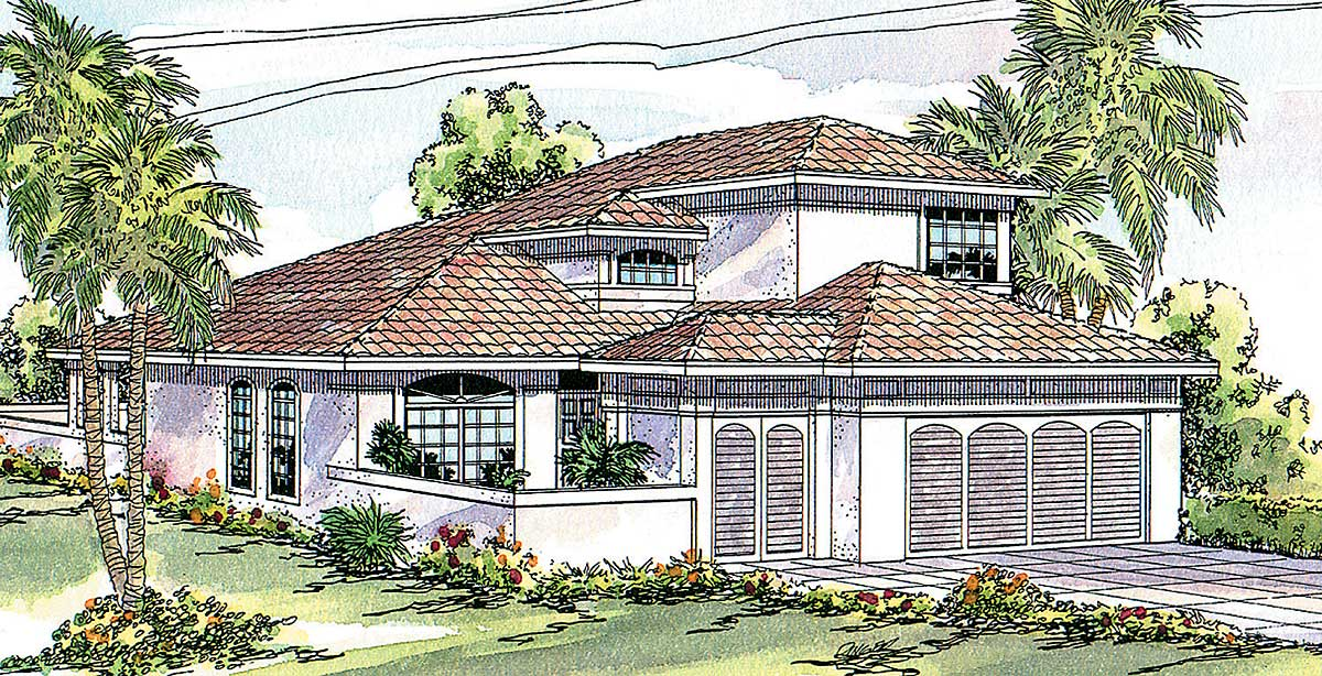 Zero lot contemporary 72028da architectural designs for Zero lot house plans