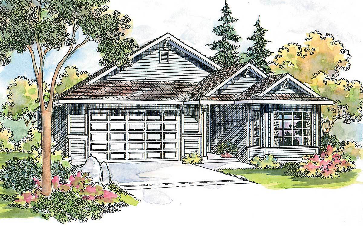 Charming ranch for small lot 72056da architectural for Charming house plans