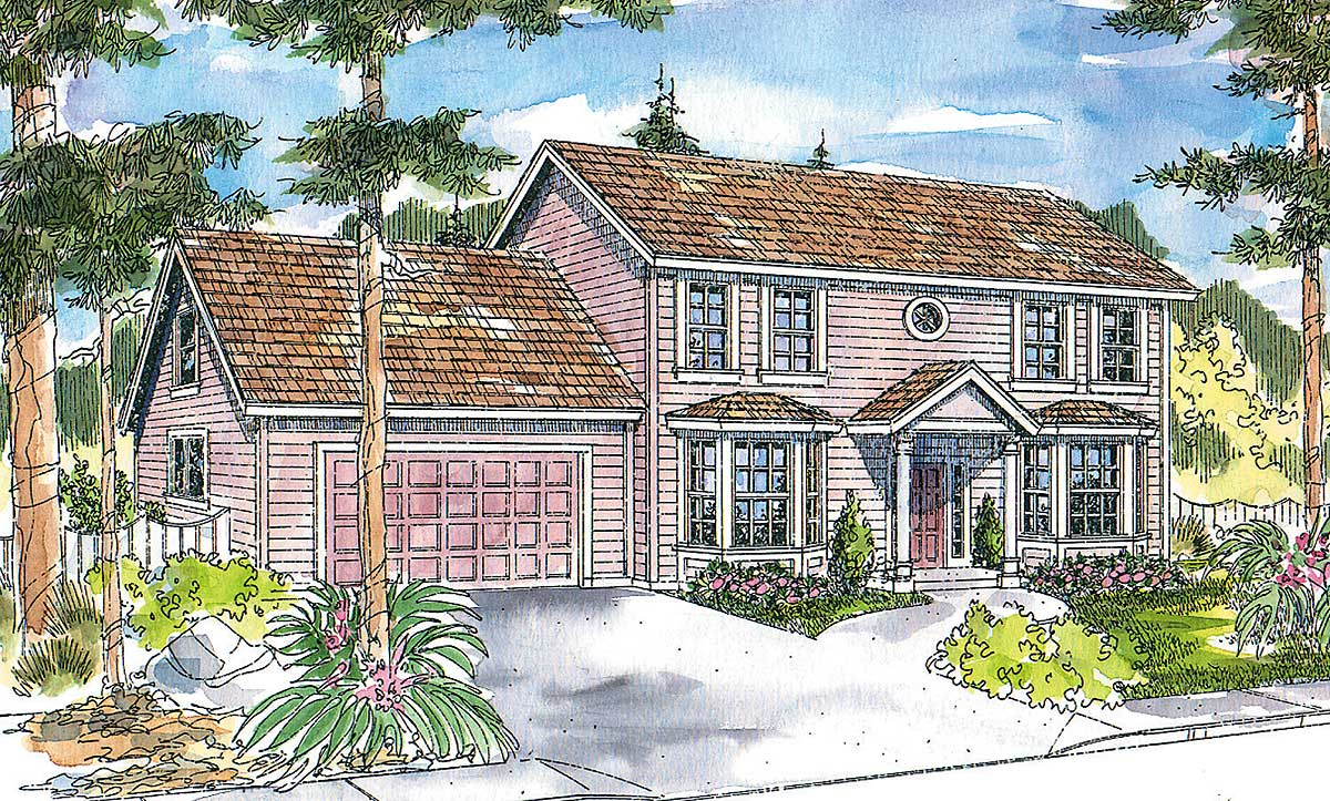 Symmetrical colonial 72058da architectural designs for Symmetrical house plans