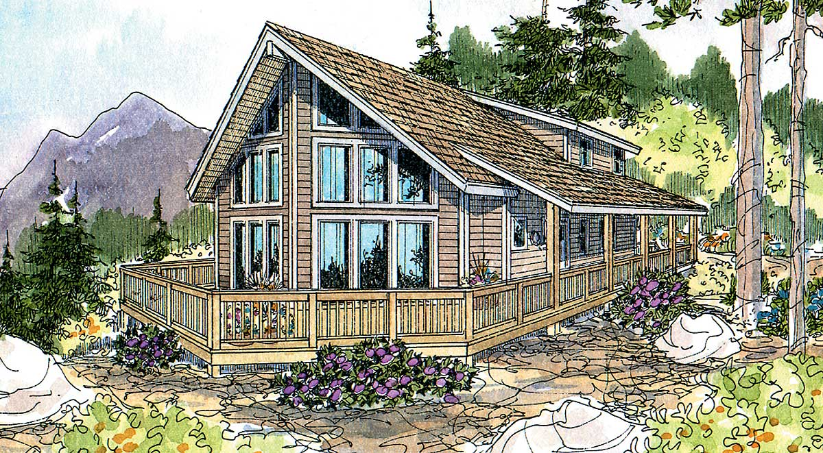 Attractive vacation retreat 72062da architectural for Retreat house plans