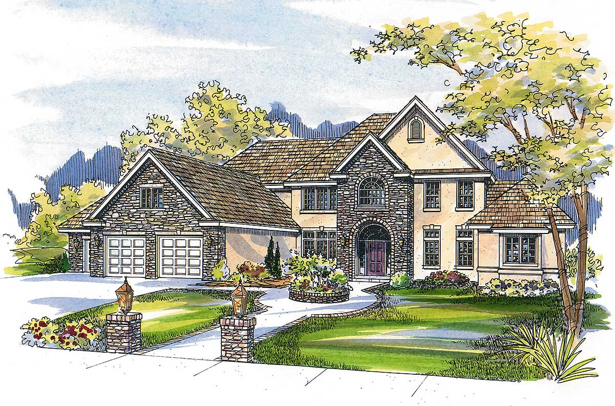 french country estate home plan 72067da architectural