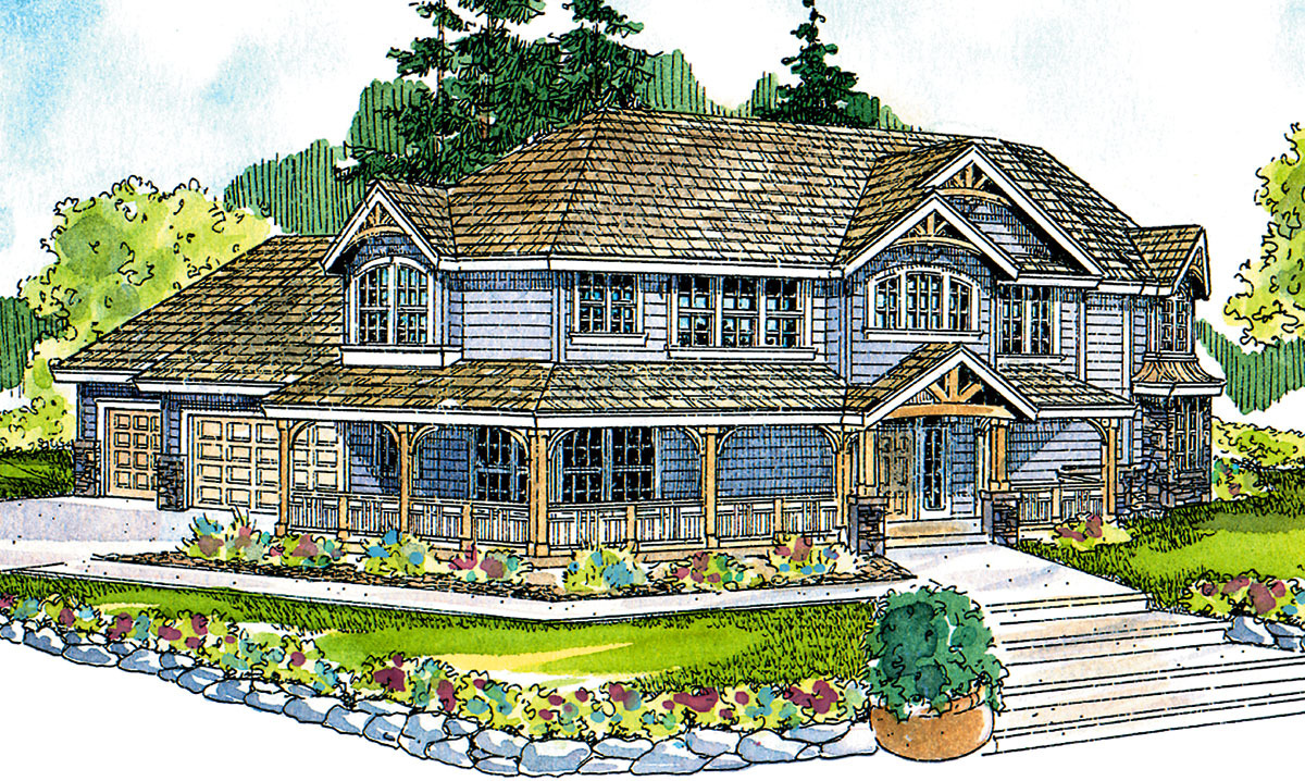 Victorian stick home 72114da architectural designs for Victorian stick style house plans