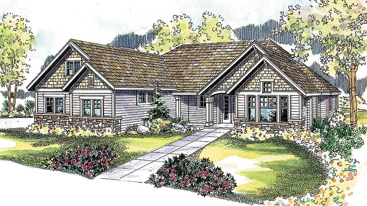 Four gables 72116da architectural designs house plans for Four gables house plan with garage