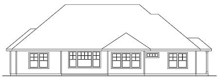 Architectural designs for Four gables house plan with garage
