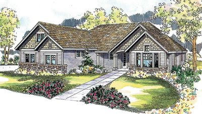 Four gables 72116da 1st floor master suite bonus room for Four gables house plan