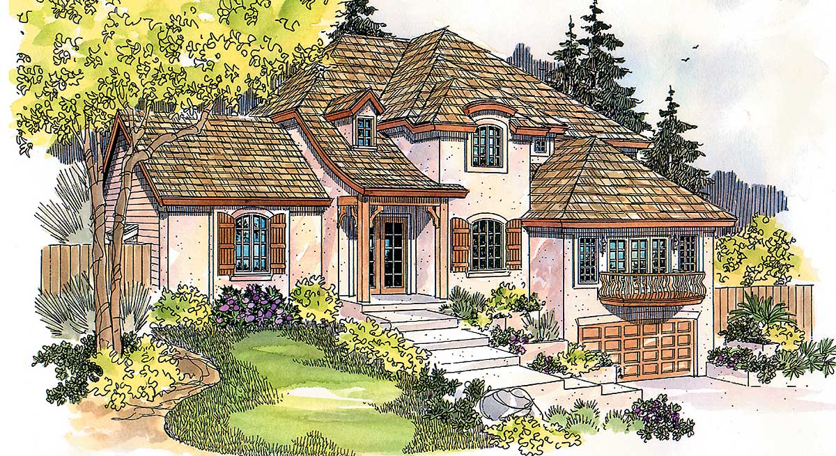 French eclectic flavor 72119da architectural designs for Eclectic house plans