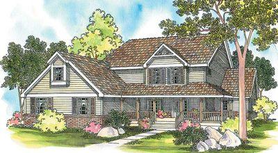 Spacious Country-Style House plan - 72259DA thumb - 01