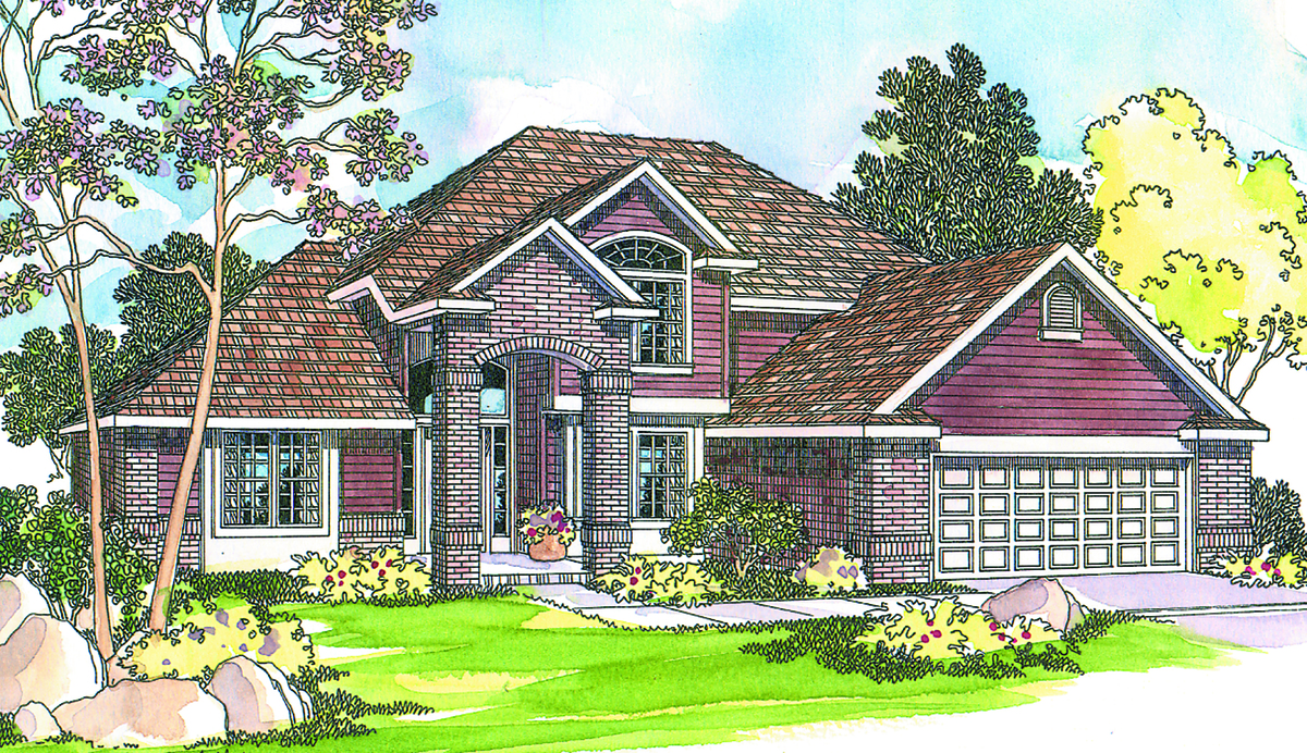 Four gable masterpiece 72444da 1st floor master suite for Four gables house plan with garage