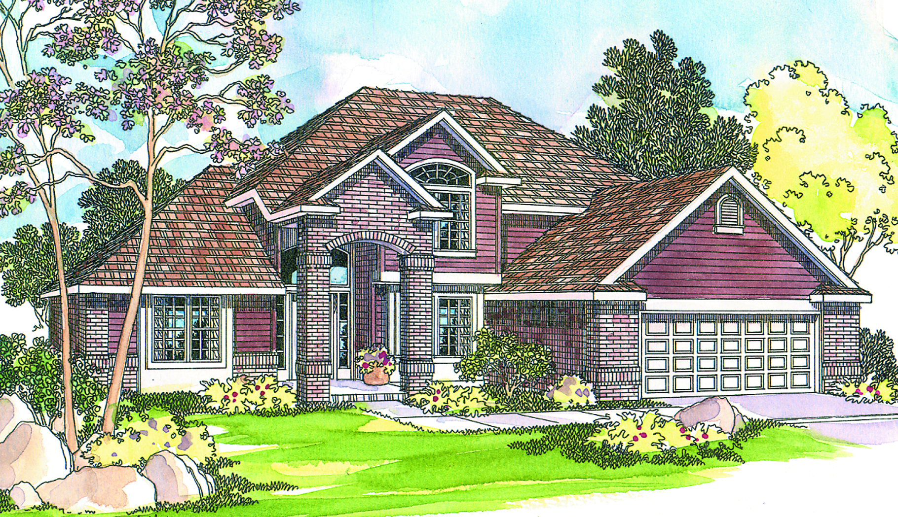 Four gable masterpiece 72444da architectural designs for Four gables house plan with garage