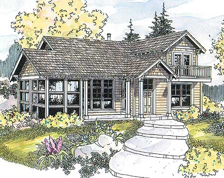Cozy vacation cottage 72471da architectural designs for Summer cottage house plans