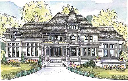 Gingerbread trimmed victorian 72477da architectural for Gingerbread house plans