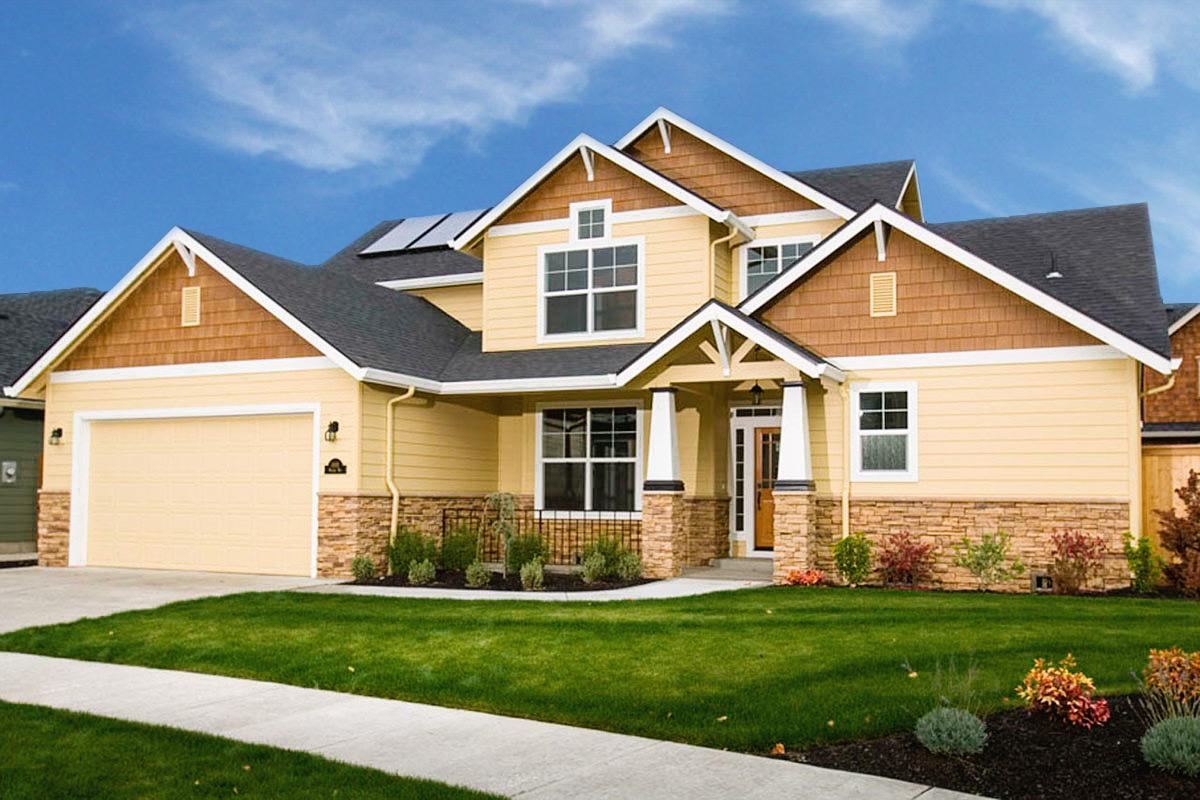 Craftsman with tapered columns 72546da architectural for Architectural designs com