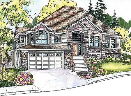 Beautiful Split Level Home Plan 72566da 1st Floor