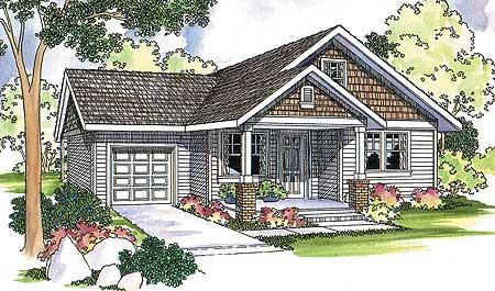 Modest Home Plan Offers Modern Amenities 72581da 1st