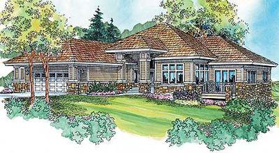 Prairie Style Home Plan Bright Throughout 72598da