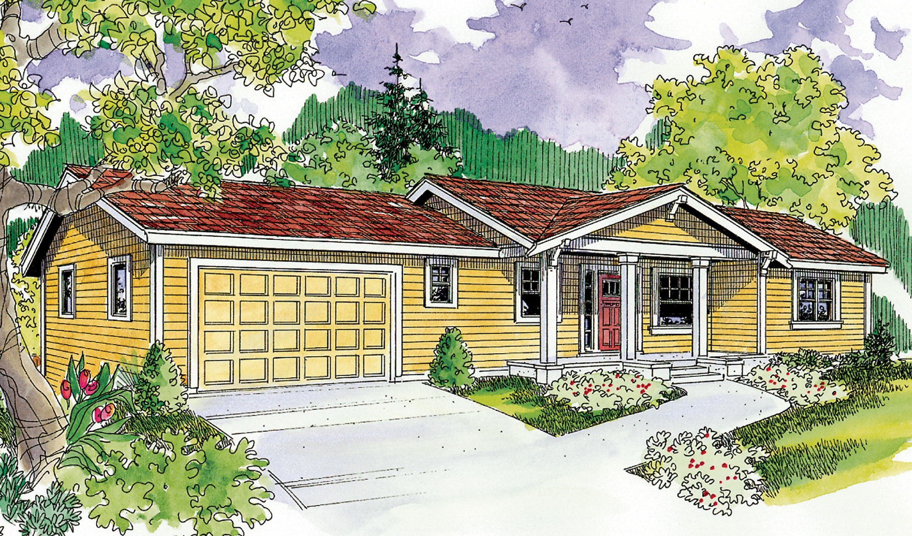 Great for the down sloping lot 72603da 1st floor for Down slope house plans