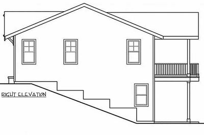 Great for the down sloping lot 72603da architectural for Down slope house plans