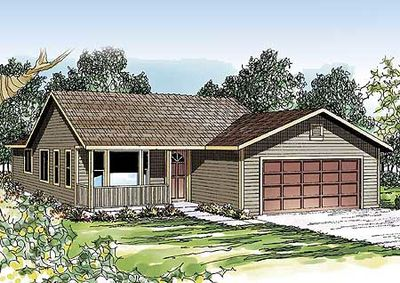 Narrow lot ranch home plan 72624da architectural for Narrow ranch house plans
