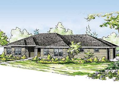 Prairie Style Ranch Home Plan 72640da Architectural