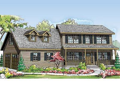 Two story country home plan 72641da architectural for 2 story country house plans