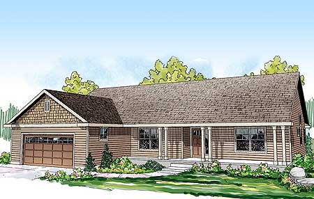 Classic ranch home plan 72676da 1st floor master suite for Classic ranch house plans