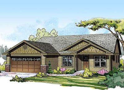 Starter Or Empty Nester Craftsman Home Plan 72679da