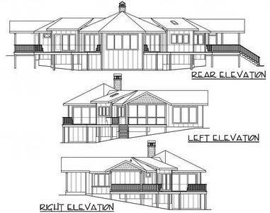 Vacation home plan with unusual shape 72721da for Odd shaped house plans