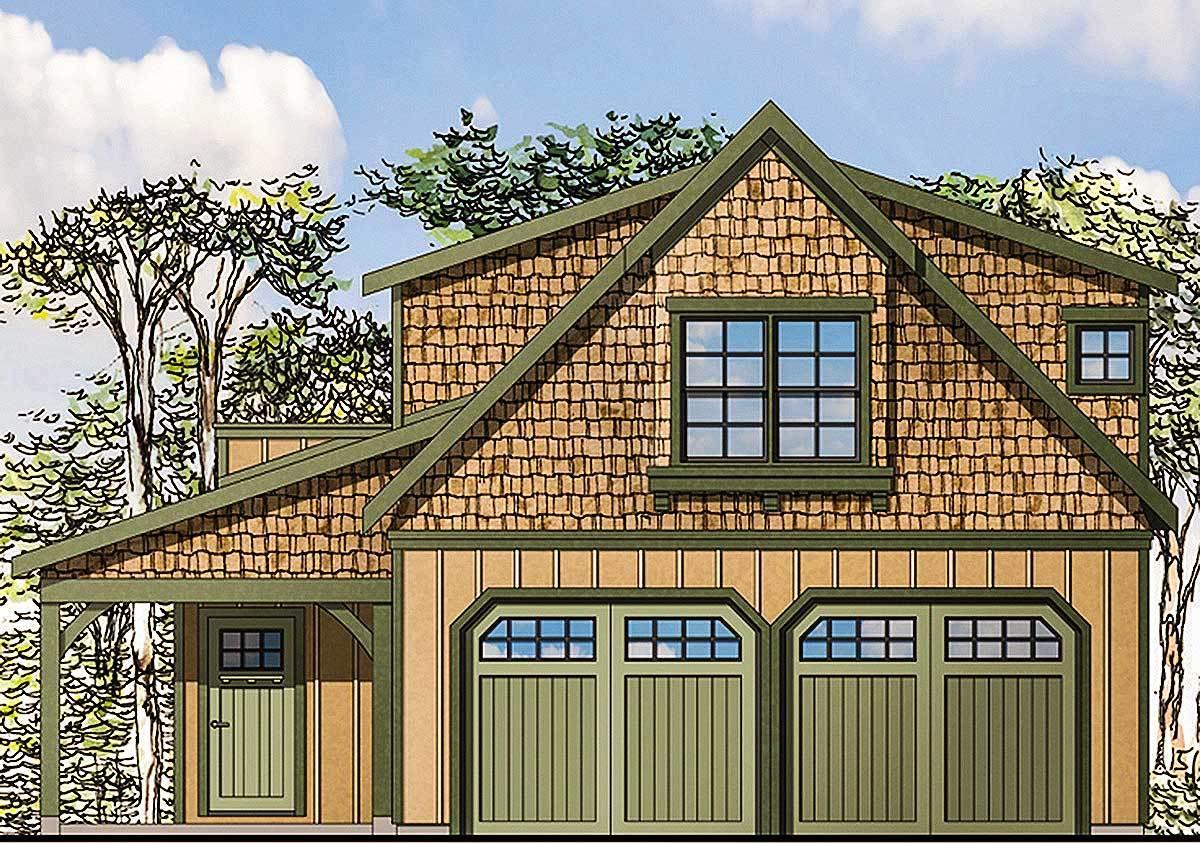 Craftsman Garage Apartment 23484jd: Craftsman Garage Apartment - 72744DA