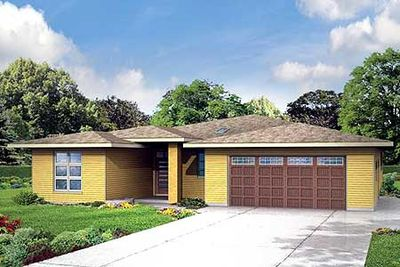 3 Bed Prairie Ranch Home Plan 72751da Architectural