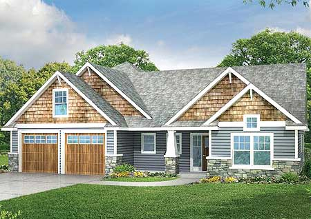 3 bed medium sized house plan 72753da architectural for Medium houses