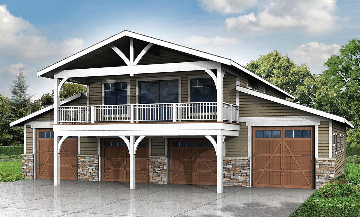 Spacious 6 car garage w rec room 72758da for Garage architectural plans