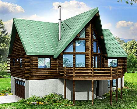 A frame house plan for a sloping lot 72771da 1st floor Vacation house plans sloped lot