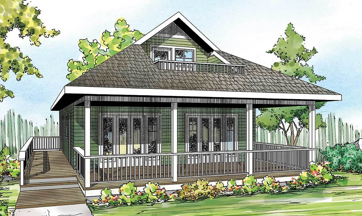 Vacation cabin with bonus above 72781da architectural for Vacation home plans