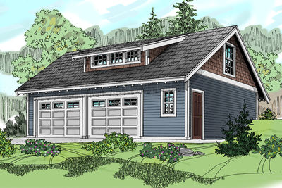 Craftsman carriage house with shed dormer 72794da for Carriage shed garage plans