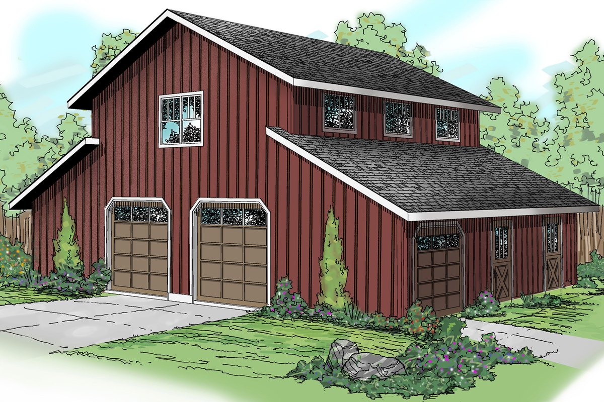 Barn style garage with rec room 72795da architectural for Country barn home plans
