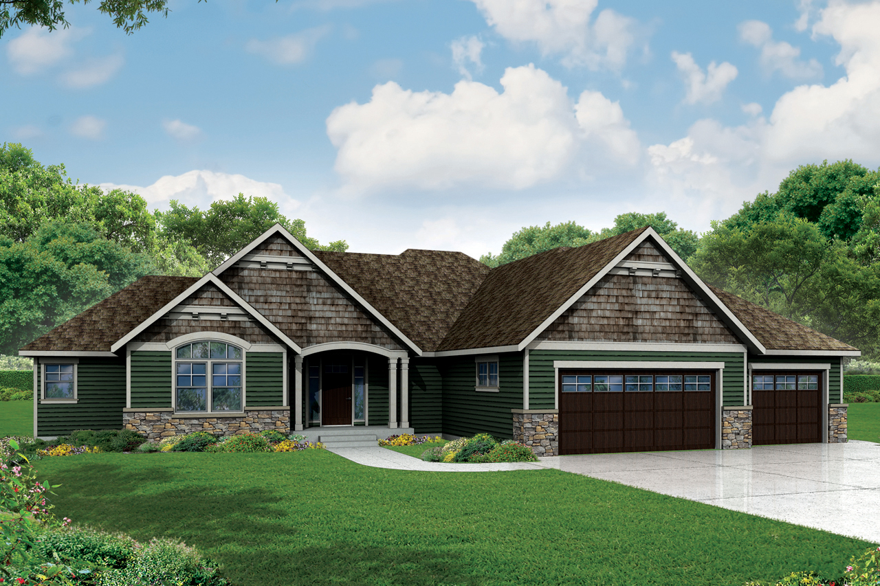 Craftsman Ranch Home Plan With 3 Beds 72800da 1st