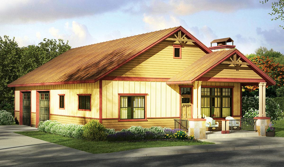 Small Home And Big Garage - 72817DA