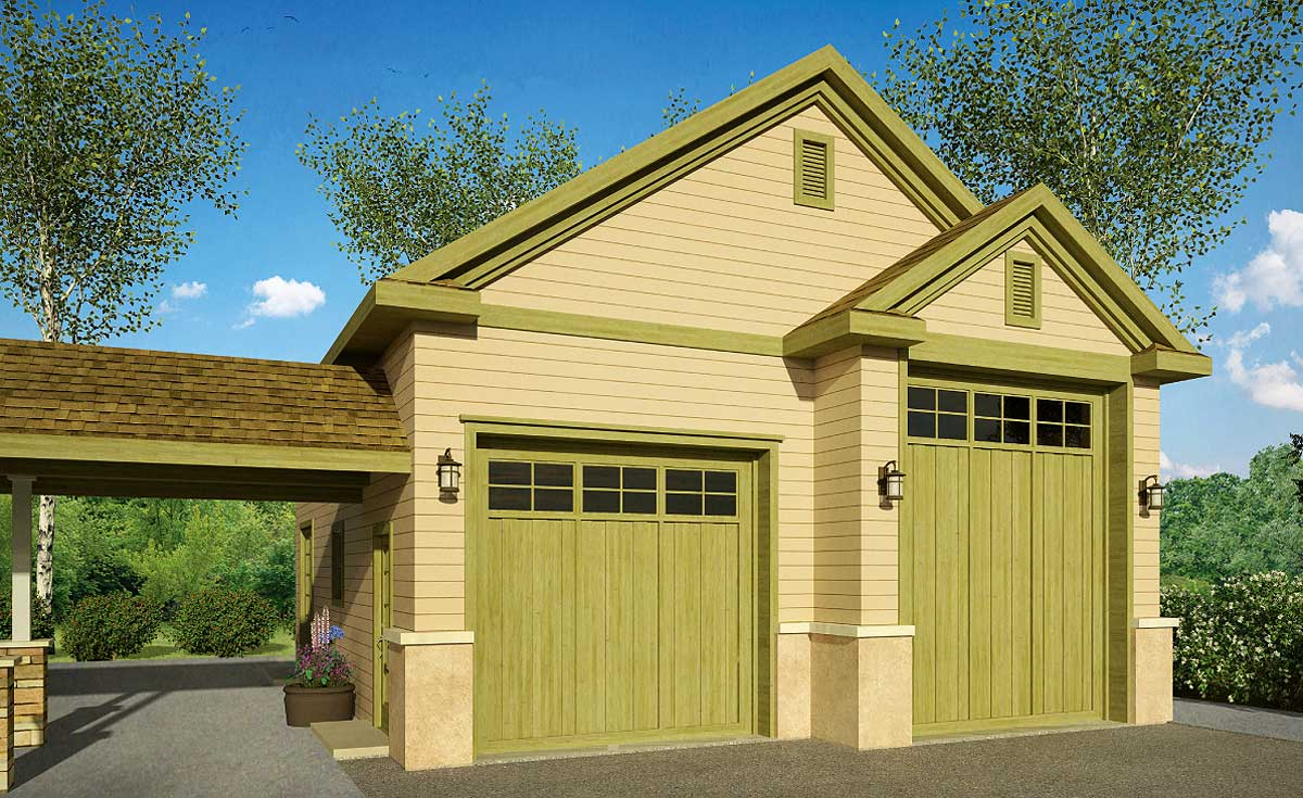 Rv garage with options 72818da architectural designs for Rv garage plans and designs