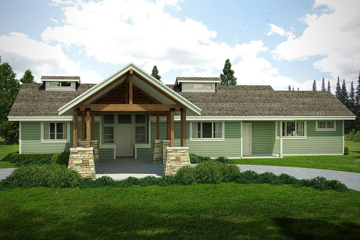 Rustic Northwest Ranch House Plan 72843da