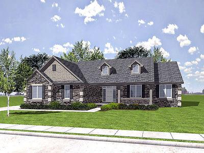 Ranch House Plan With Season Porch HS Architectural - 3 season porch plans