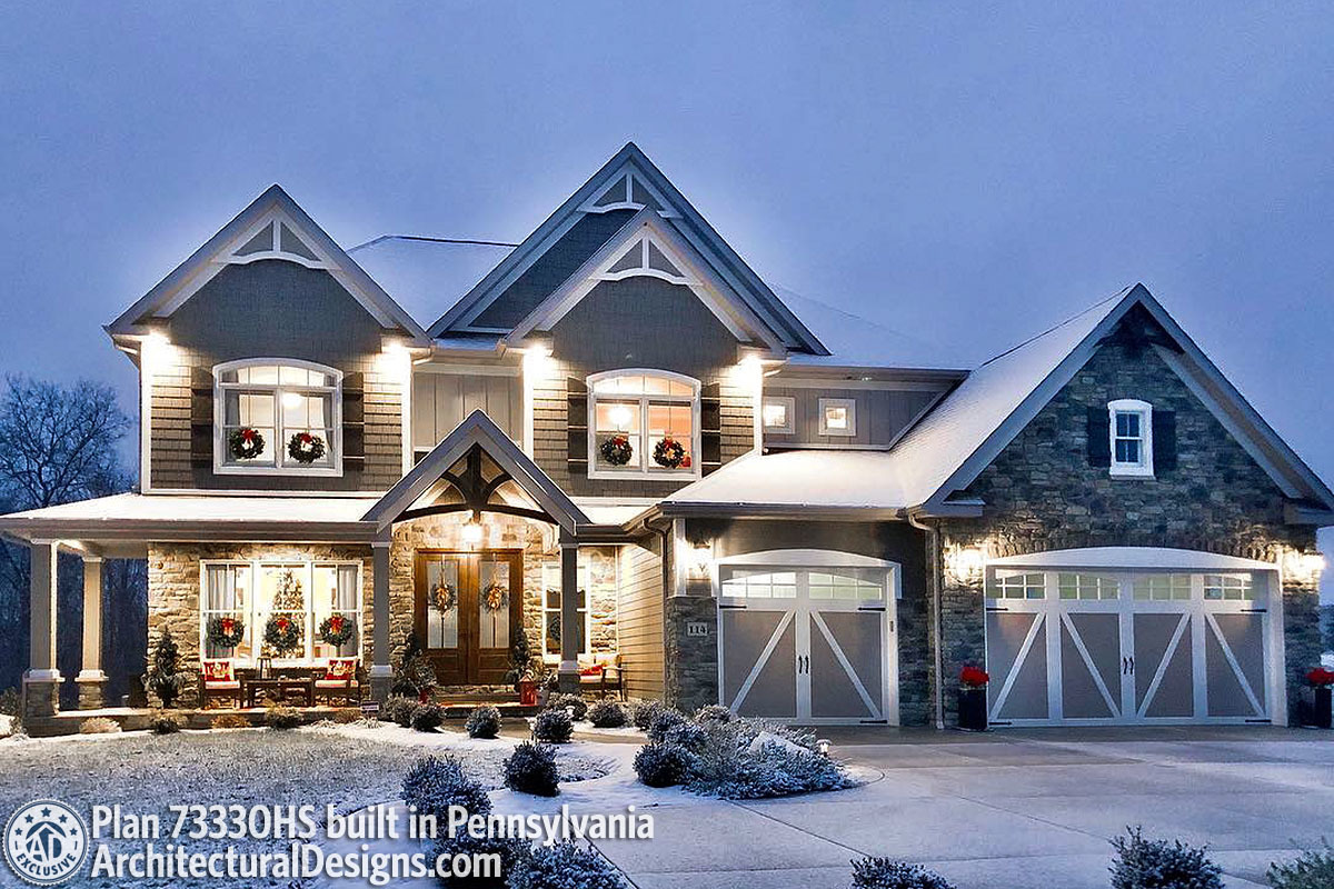 House Plan 73330HS comes to life in Pennsylvania! - photo 001
