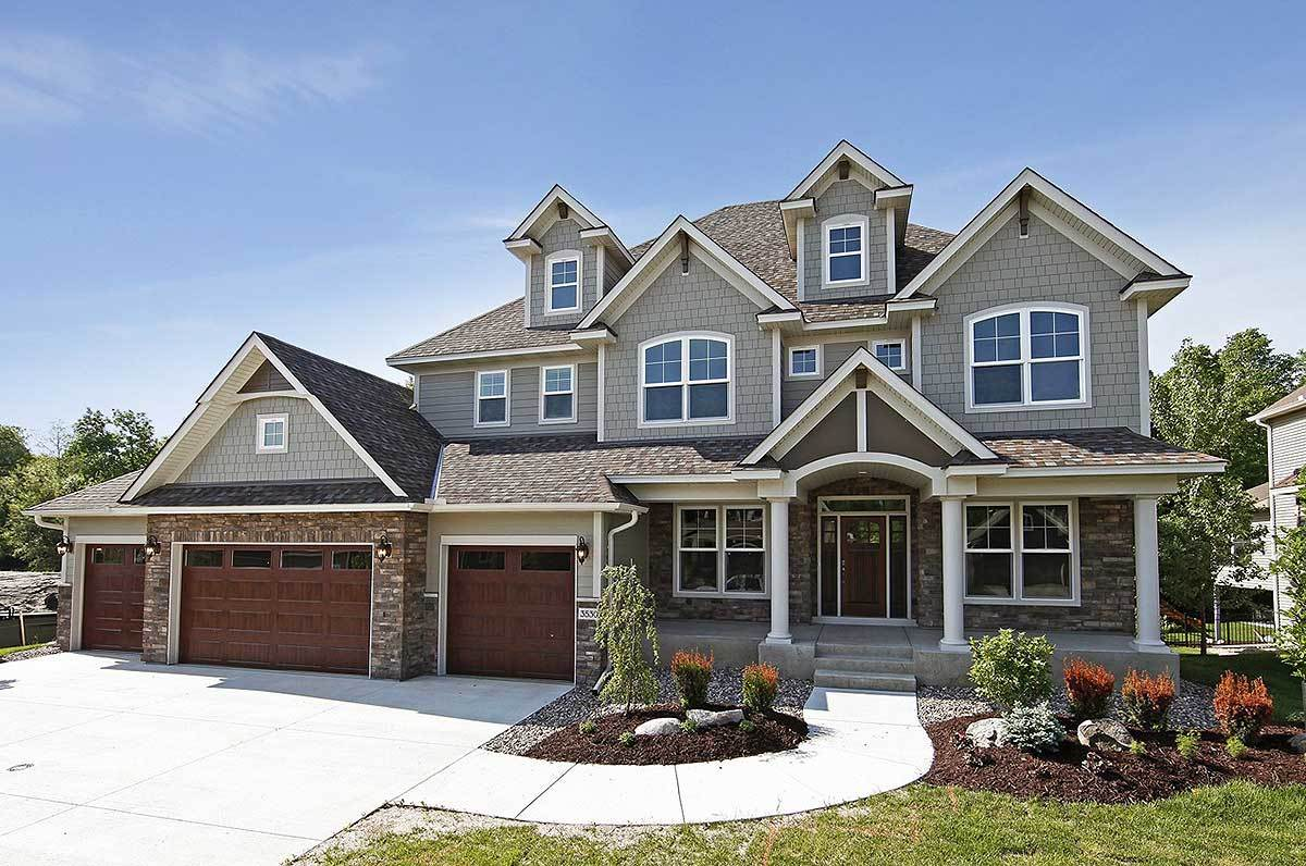Storybook house plan with 4 car garage 73343hs for Story book house plans